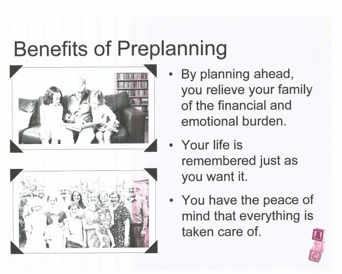 Benefit of pre-plan01.11.19